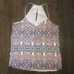 Express paisley print double layer tank small